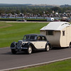 1951 Riley RMB Towing a 1938 Leason 18 Caravan