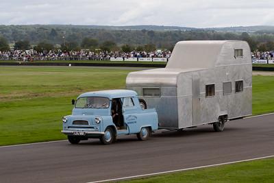 1952 - Bedford CA Towing a 1951 - Berkeley Statesman Double-Decker Caravan