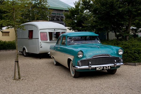 1955 Ford Zodiac MK2 & Cheltenham Caravan