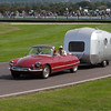 1962 Citroen DS Decapotable Towing a 1962 SMV Caravan