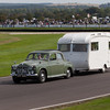1961 Rover 100 Towing a 1966 Carlight Caravan