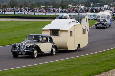 1951 - Riley RMB Towing a 1938 - Leason 18 Caravan