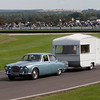 1966 Jaguar 420 Towing a Knowsley Juno Caravan