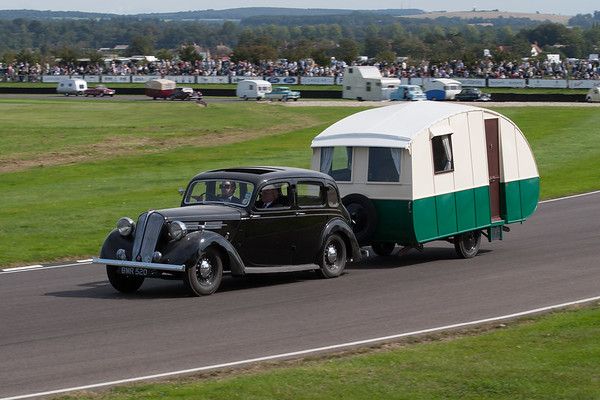 1938 - Standard Twenty Towing a 1933 - Car Cruiser III Caravan