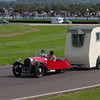 1950 Morgan Three-Wheeler Towing a 1948 Bristol Wing Caravan