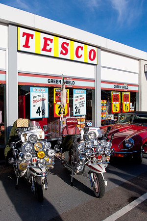 Scooters Outside Period Tesco