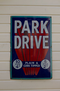 Park Drive Cigarettes Enamel Sign