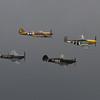 Curtiss P-40B Warhawk - Curtiss P-40F Warhawk - Supermarine Spitfire Mk 1XB - North American P-51D Mustang `Ferocious Frankie'