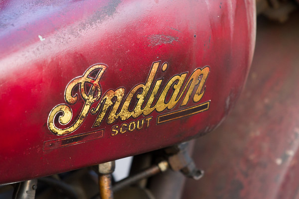 Indian Scout Motorcycle Gas Tank