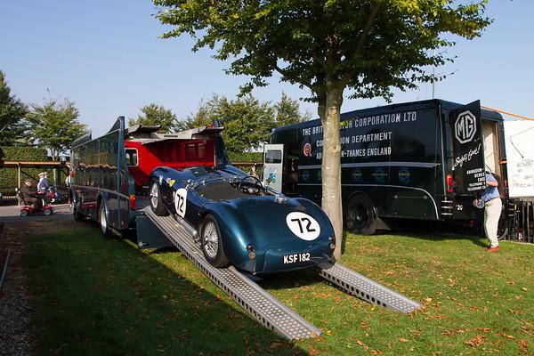 Jaguar C-Type and Ecurie Ecosse Car Transporter
