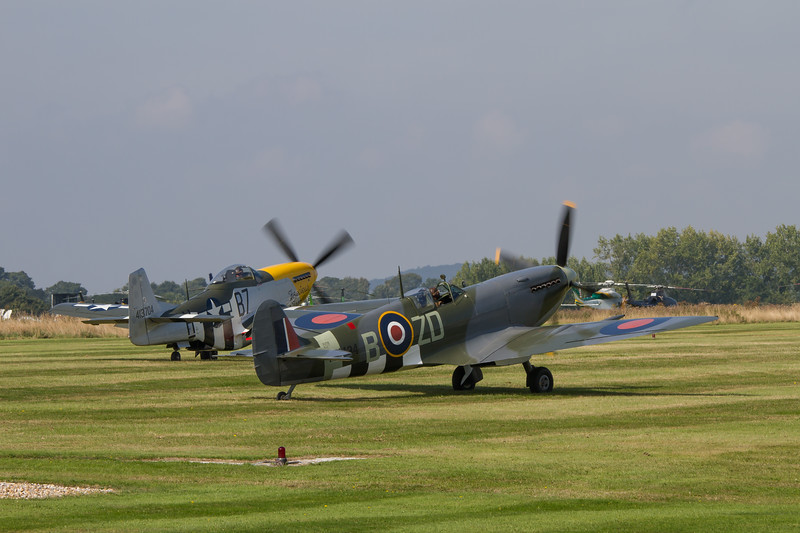 1943 - Supermarine Spitfire Mk IXB and 1945 - North American P-51D Mustang `Ferocious Frankie'