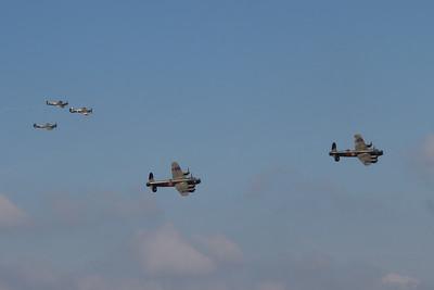 Avro Lancaster Mk III - Avro Lancaster Mk X - Hawker Hurricane Mk IIc - Supermarine Spitfire Mk LF XVIE - Supermarine Spitfire P7350 Mk IIa