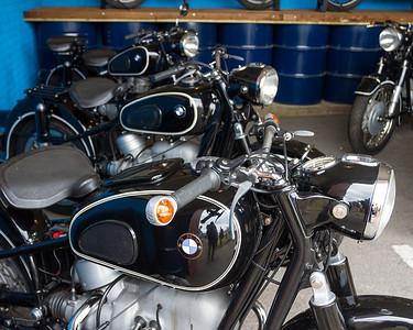 Line of BMW Motorbike's