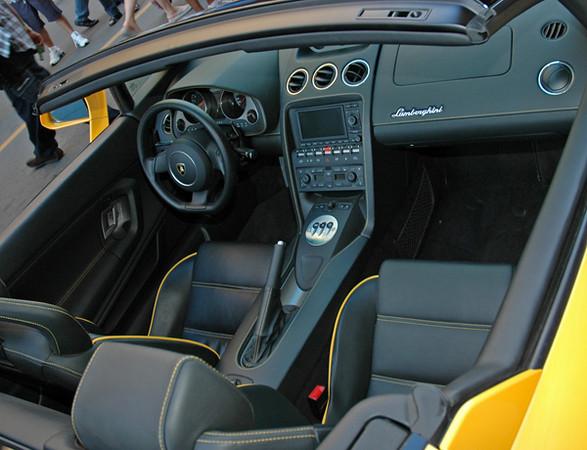Lamborghini cockpit