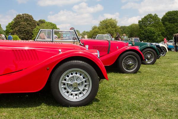 Lineup of Morgan Cars