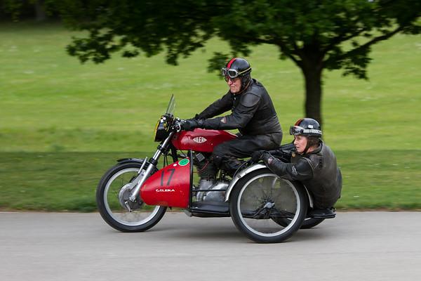Gilera motorbike and Sidecar