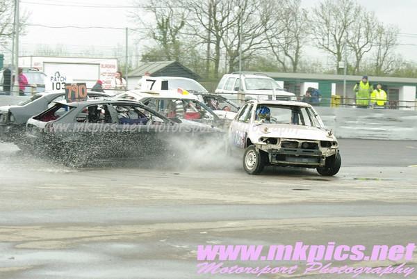Bangers & Junior Bangers, Northampton International Raceway, 9 April 2012