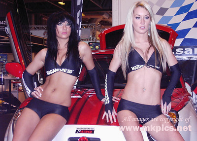 Pit Babes at the 2009 Autosport International show
