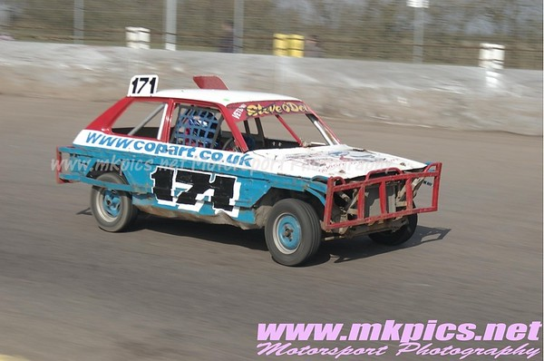 1300 Saloon Stock Cars, Northampton 14 March 2010