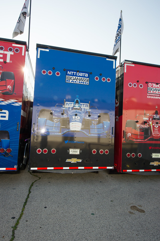 Team Ganassi transporters