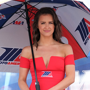 VIR Superbikes MotoAmerica umbrella girl 02