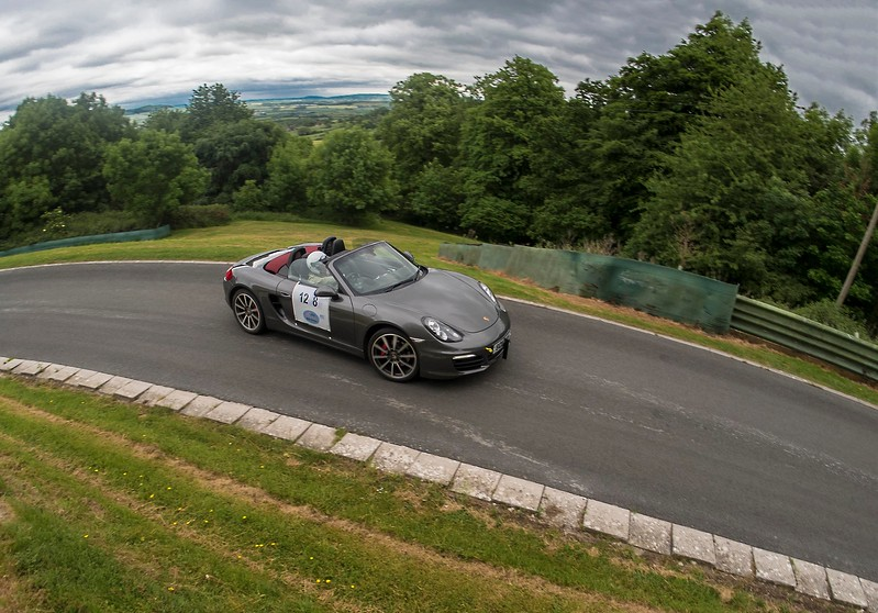 Steve Lyle with plenty of opposite lock Porsche Boxter May 2017