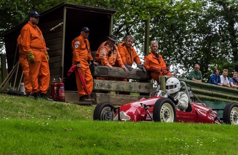 Simon Dedman in the Waye JAP in the foreground with marshals May 2017