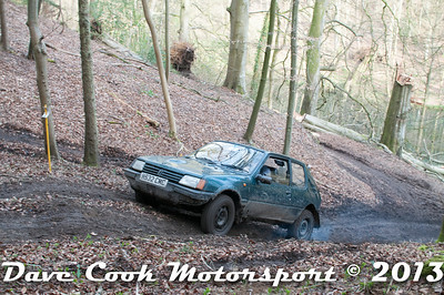 D30_3036 - No. 3, Nick  CLEAL / TBA : Peugeot  205 GTi - 1st Class 1 - Section 8 Far Bank