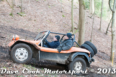 D30_2966 - No. 32, Ian  DAVIS / Simon  WOODALL: VW  Buggy - Section 8 Far Bank, Simon in his usual seat, but missing the Steering wheel!