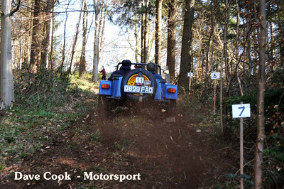 Terry Coventry's Rover v8 powered Marlin climbed the hill and won class 8.