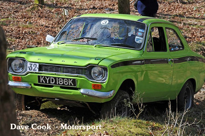 Nigel Green in his appropriately coloured Ford Escort
