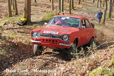 Dick Bolt's Ford Escort failed just short of the top