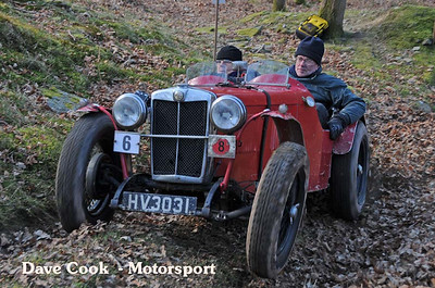 Dudley Sterry and Chris Phillips clered the hill in the supercharge MG J2