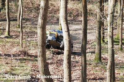 Dean Partington had a tricky moment at the bottom of the hill