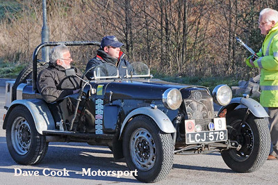 Bill Fireshaw and Dave Payne in the Golden Vally Special, about to set off.