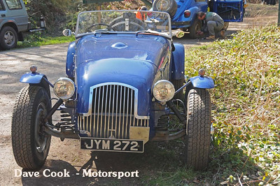 Not at the start, but at the car park at Jack & Jill and the Plodds, was this Allard