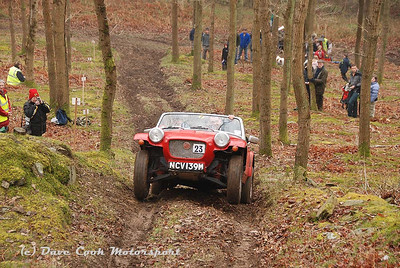 Ray Goodright's Class 7 Arkley MG Midget, lifts both front wheels