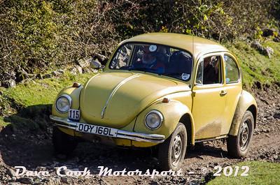 No. 115 Michael Leete and Mike Hayward, Class 4, 1285cc VW Beetle