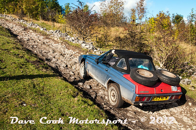 No. 114 Stephen Kingstone and Kerry Greenland, Class 5, is shown as a Mazda MX5, but this is obviouly a Reliant Scmitar