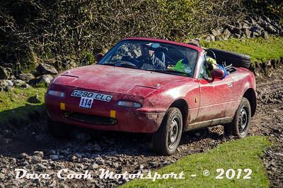 No. 114 Stephen Kingstone and Kerry Greenland, Class 5, 1600cc mazda MX5