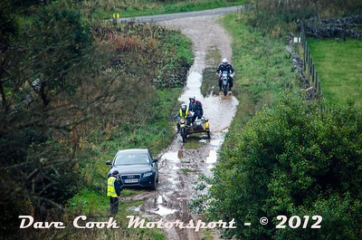 No. 501 Celia Walton and Alison Ingram, Class O, 650cc Honda Wasp tackle the Watersplash