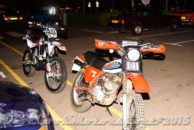 D72_4938 Start -   No. 81, Paul Tizard:  Class B Honda XL and No. 82, Matthew Gower:  Class  Husqvarna TE310R