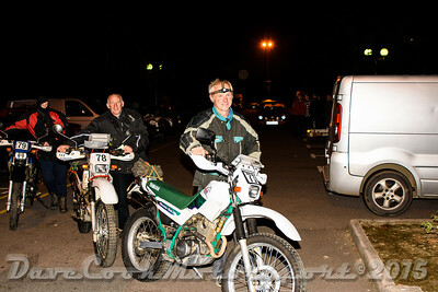 D72_4877 Start -   No. 77, Adrian Bellew:  Class B Yamaha Serow and  No. 78, Derek Walter:  Class  Bonhams Serow