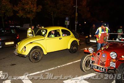D72_4956 Start -   No. 174, John Looker / Scott Kelly:  Class 6 Volkswagen Beetle and No. 129, Mike Pearson / Graham Proctor:  Class 8 Dellow