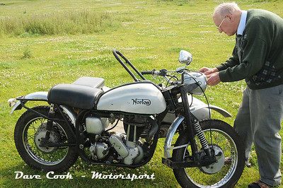 Norton 19S 600cc Single cylinder combination from 1956