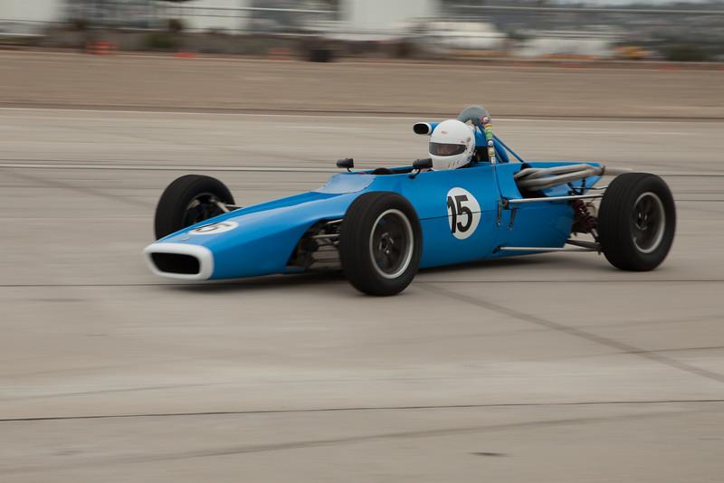 Martin Lauber points his 1970 Titan MK 6 into the apex of turn ten.