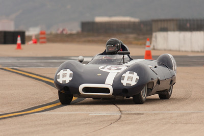Frank Arciero Jr's 1958 Lotus Eleven in turn six.