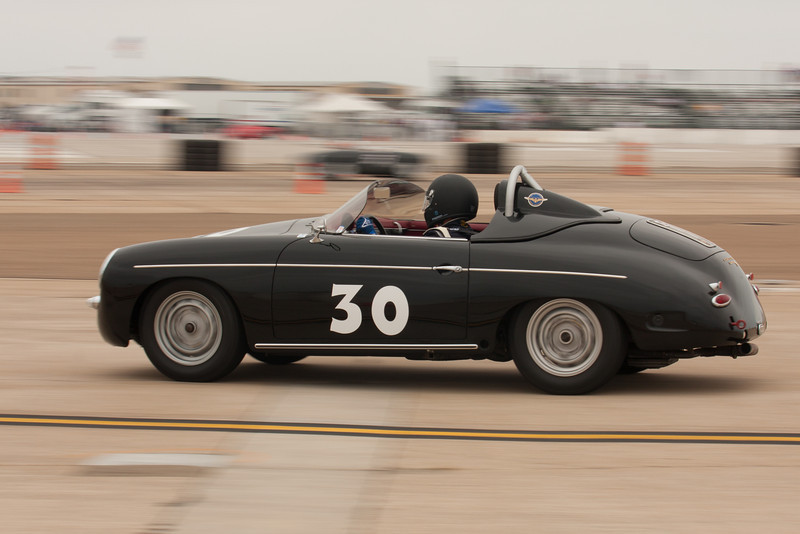 Paul Lima ready to enter turn six in his  1960 Porsche 356.