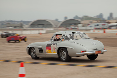 Alex Curtis' 1955 Mercedes 300 SL as it brakes into turn six.