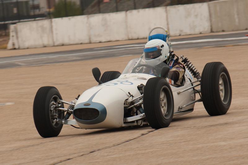 Karen Barry's 1960 BMC-Huffaker in turn six during Friday's practice.